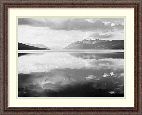 Framed Wall Art Print McDonald Lake, Glacier National Park, Montana - National Parks and Monuments, 1941 by Ansel Adams 26.25 x 21.25