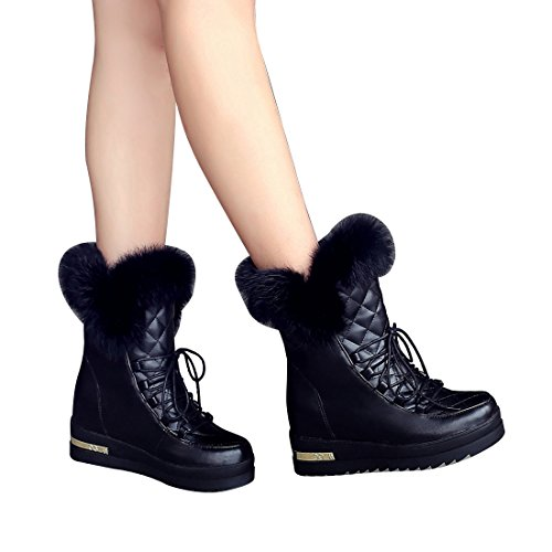 262ce558e84bd lovely Mostrin Fashion Women's Warm Rabbit Fur Ankle Boots Outdoor ...