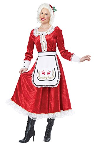 Mrs Claus Costume Dress (California Costumes Women's Classic Mrs. Claus Adult, Red/White, XX-Large)
