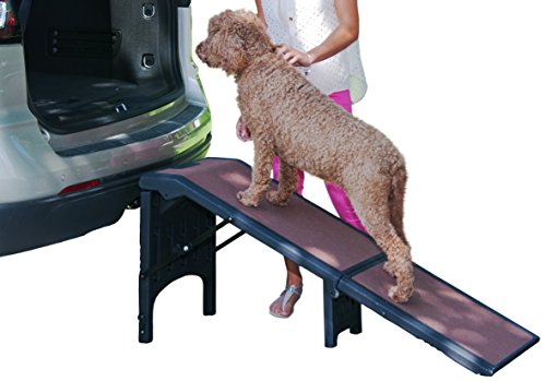 Pet Gear Free Standing Ramp for Cats and Dogs. Great for SUV's or use Next to your Bed. 4 Models to Choose from, Supports 200-300 lbs, Lightweight Easy-Fold Design Review