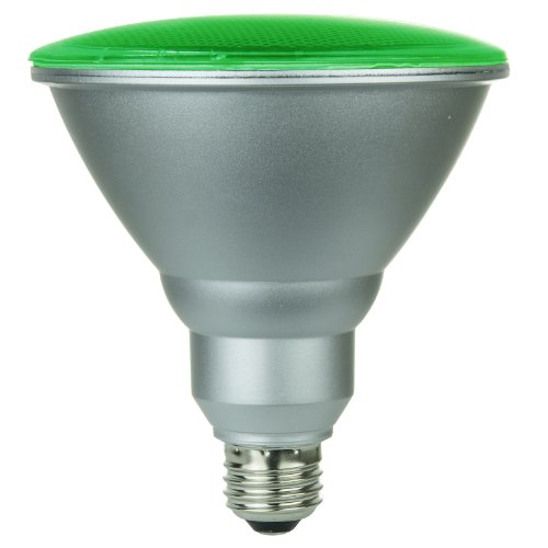 (Sunlite 80042-SU PAR38/130LED/6W/G LED 120-volt 6-watt Medium Based PAR38 Lamp, Green)