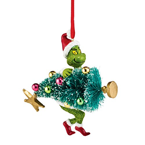 Department 56 Grinch Stealing Tree Ornament, 3.75 inch