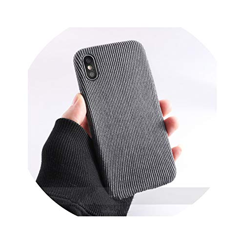 Cloth Texture Soft Case for iPhone X for iPhone 7 8 6 6S Plus Xs Max XR Ultra-Thin Canvas Pattern Phone Cases,IK51-DXRHui,for iPhone 6 6s