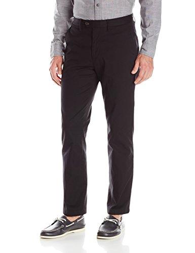 Nautica Men's Cotton Stretch Flat Front Dress Pant, True Black, 30Lx30W ()