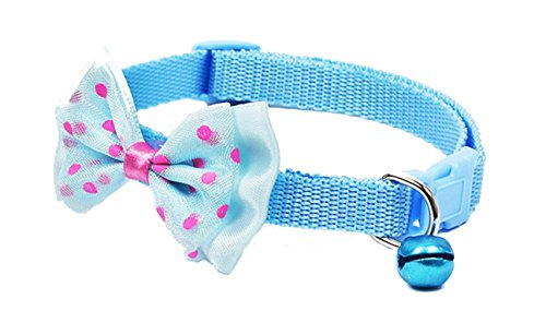 1 Set Nylon Adjustable Pet Collar Bow Princess Small Dog Dogs Puppy Soft Elastic Bell Tag Flower Terrific Popular Extra Large Wide Reflective Safety Breakaway Training Camo Kitten Collars, Type-02
