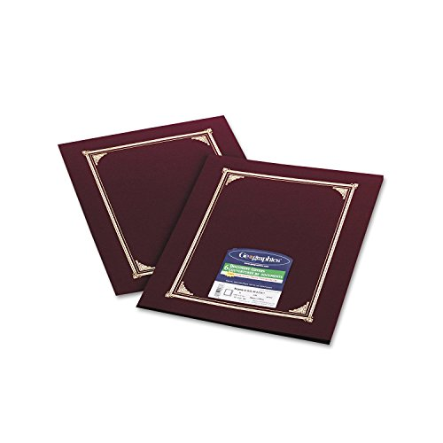 Geographics - Certificate/Document Cover, 12-1/2 x 9-3/4, Burgundy, 6 (Diploma Cover 8 X 10)