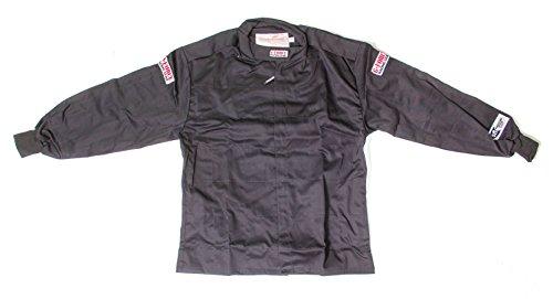 G-Force 4126XLGBK GF 125 Black X-Large Single Layer Racing Jacket (Layer Jacket Single)