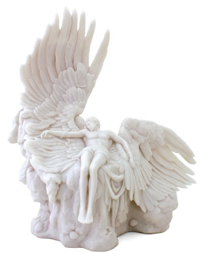 12 Inch Greek God Icarus Mythology Statue Collectible Wings Figure (Marble God Statue)
