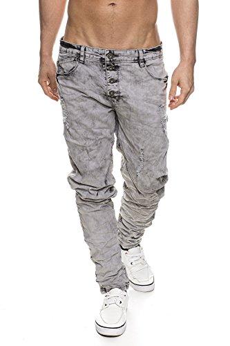 Unbekannt - Pantalon - Homme Gris Gris