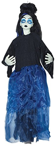 [Hanging Blue Dress Princess Creepy Doll Gothic Halloween Decoration Prop] (Hanging Halloween Props)