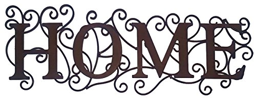Home Word Sign Cutout Metal Wall Art Decor (Home)