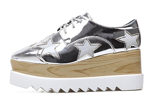Chaussures Talon Unique Xdgg Loose Femmes Silver 39 Casual Épaisses 2017 SZqS7ETxwX