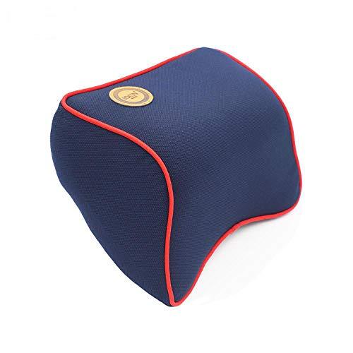 (1 PCS Car Pillow Space Memory Foam Fabric Neck Headrest Car Covers Vehicular Pillow Car Seat Cover Headrest Neck Pillow for Home Dark Blue)
