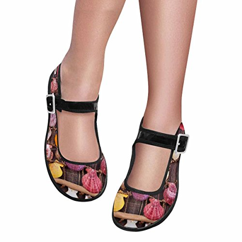 InterestPrint Womens Comfort Mary Jane Flats Casual Walking Shoes Multi 3 EdhTXYubcf