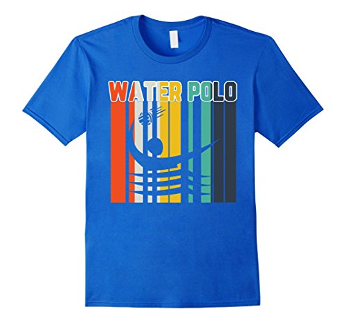 Mens Vintage Style Water Polo Silhouette Shirt Water Polo TShirt Medium Royal - Style Silhouette