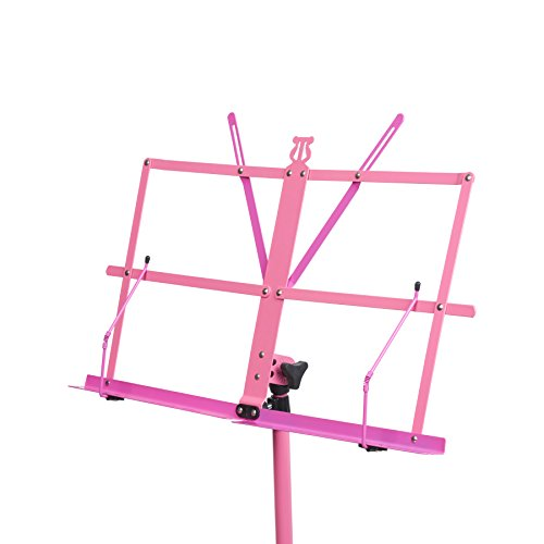 Audio 2000s 60'' Height Portable Sheet Music Stand Pink/Magenta AST4448 by Audio 2000S (Image #1)