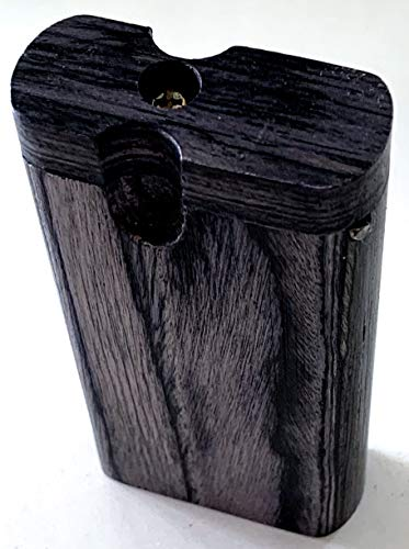 Handmade Double Black Office Power Sized Wooden Holding Box with Cleaner + Bat