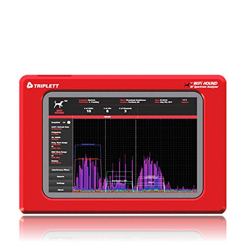 Triplett Wi-Fi Hound 2.4 GHz & 5 GHz Rf Spectrum Analyzer- Advanced Technology Visualizes & Helps Troubleshoot Wi-Fi Issues at Home & On The Go | Use for Smart Homes, Businesses, & More - (WFHOUND)