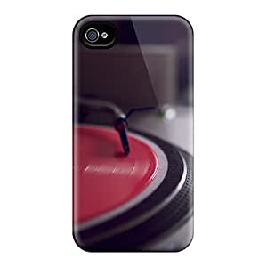 Awesome Design Record Player Hard Case Cover For Iphone 4/4s