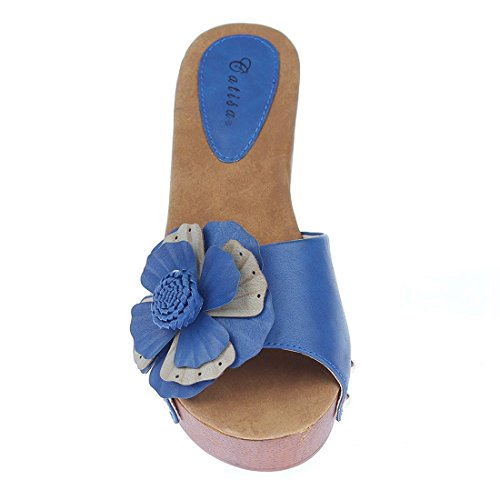 CATISA-sd4_fd260-Sandale para mujer Azul - azul