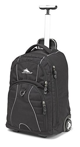 High Sierra 53991-1050 Freewheel Wheeled Book Bag Backpack, Black