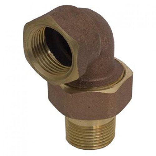 Elbow Nut (Webstone 11535-E - 1-1/4 FIP x MIP Brass Union Elbow & Nut)