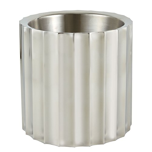 Elegance Stainless Steel Brandywine 5.25 QT Wine/Champagne Cooler Double Wall by Elegance