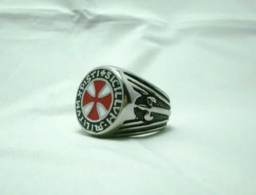 Da Vinci Code Seal of the Knights Templar Masonic Ring Knights Red Seal Sz 11