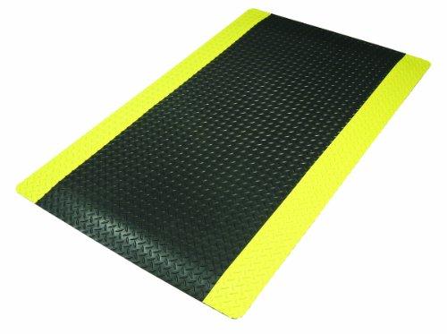 NoTrax 975S0312YB Cushion Trax Ultra Floor Mat, 3' x 12', Black/Yellow by NoTrax