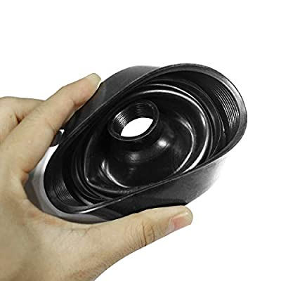 HUIQIAODS Rubber Housing Seal Cap Dustproof Covers for H4 LED Headlight Conversion Kit,Pack of 2 (80MM): Automotive