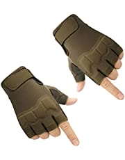 Multifunctional Sports Gloves Half Finger Tactical Gloves Fingerless Motorcycle Gloves Hard Shell Knuckle Half Finger Airsoft Shooting Hunting Paintball Gloves