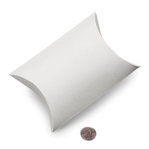 White Pillow Boxes 5-1/8'' X 1-1/2'' X 5 3/4'' | Quantity: 25 Width 1 1/2 by Paper Mart