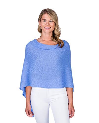 - Alashan Cashmere Claudia Nichole Cashmere Draped Dress Topper - BlueHorizon/2304