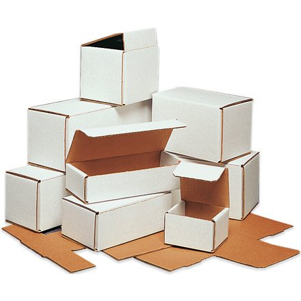 100 - 6x4x2 White Corrugated Shipping Mailer Packing Box Boxes Two 50 Bundles