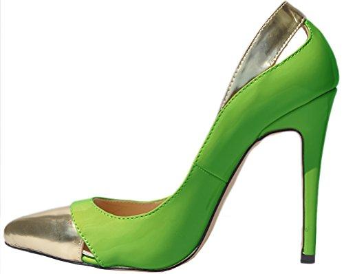 Green Femme Vert Find Nice EU Sandales Compensées 36 5 OqxOvtXUw