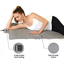 """72"""" x 24"""" Ultra Large Venture Heat Far Infrared Heating Pad for Pain Relief - 10 Hour Auto Shut Off, Drug Free, Infrared Therapy, Full Body Size, 100-240v Travel Heating Pad"""