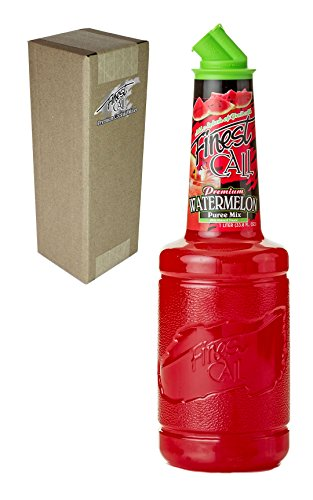 Finest Call Premium Watermelon Fruit Puree Drink Mix, 1 Liter Bottle (33.8 Fl Oz), Individually Boxed -