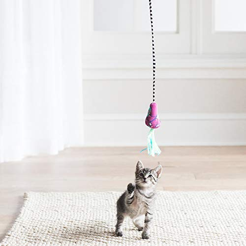 Petmate Fat Cat Catfisher Teasers Cat Toy, Tadpole Wand