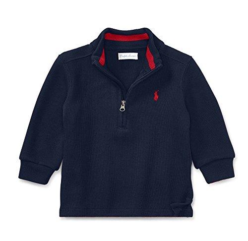 French Rib Sweater - Ralph Lauren Baby Boys Half Zip French Rib Sweater (3 Months)