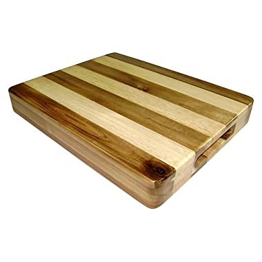 Mountain Woods 15-by-12-Inch Butcher Block Cutting Board