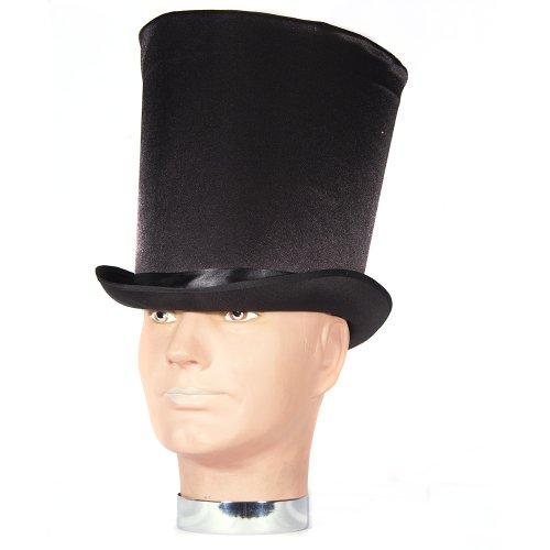 HMS Men's Satin Victorian Coachman Hat, Black, One Size (Best Adult Male Costumes)