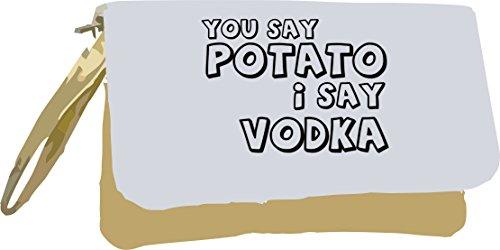 Bolsa Dice Que Alcohol Patata Oro La De De Temas Vodka Con Digo Metálico Comunicado Usted Plata Embrague 4fqTx7q