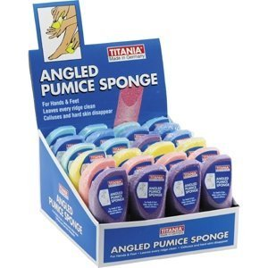 Titania Angled Pumice Sponge (Pack of (Titania Foot)