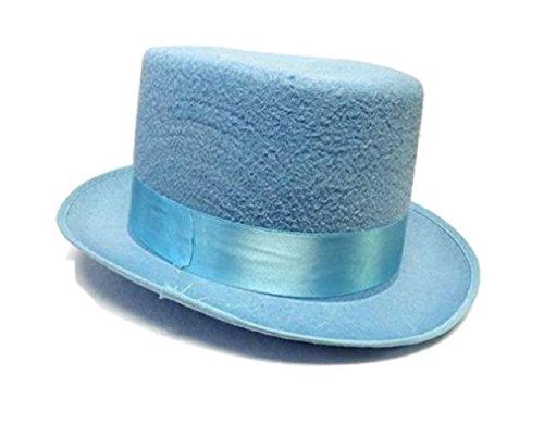 Blue Tuxedo Top Hat (Blue or Orange Felt Dumb and Dumber Top Hat Adult Tuxedo Costume Accessory Prom)