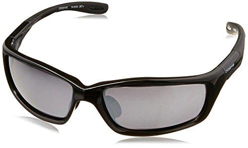 Crossfire 263 Infinity Safety Glasses Silver Mirror Lens - Shiny Black Frame (Lens Shiny Frame Black)