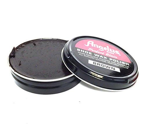 Angelus Brand Perfect Stain Shoe Wax Polish, 3 fl.oz, Brown