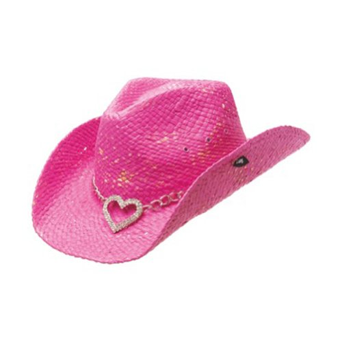 Peter Grimm Ltd Women's Heart Attack Straw Cowgirl Hat Pink One Size