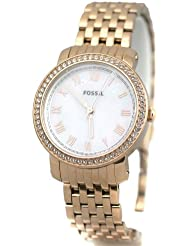Fossil Womens ES3186 Emma Rose Tone Stainless Steel Watch