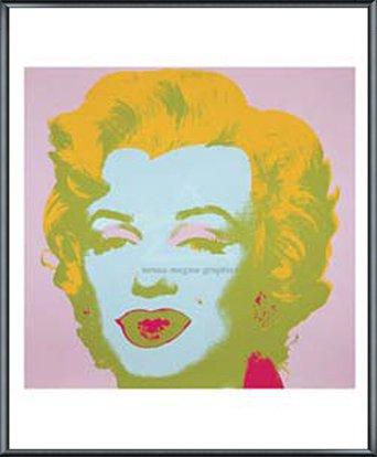 ポスター アンディ ウォーホル マリリンモンロー 1967 (pale pink) 額装品 アルミ製ベーシックフレーム(ブラック) B0096E6BUO ブラック ブラック