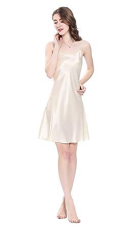 cheap for discount bfc6b 1a558 LilySilk Seide Nachtkleid Mini Nachthemd Damen Nachtwäsche Seide  Schlafanzug Kurz 22 Momme Verpackung MEHRWEG